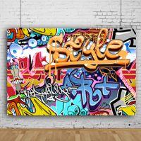 Dream 7x5ft Красочные Граффити Настенные Фон Hiphop Street Art Фотография Фон для фотографа Детские фото Съемка студии