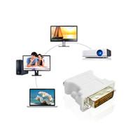 DVI-D 24 + 5/2 24 + 1 PIN-код DVI в VGA для мужчин для женщин-видео преобразователь для ноутбука для ПК