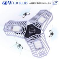 60 W LED Garaj Trengörü, 6000K Beyaz Tavan Işık, 6500LM LED Garaj Işıkları Tripodlar, CRI 80, 3 Ayarlanabilir Paneller, Led Dükkan Işığı