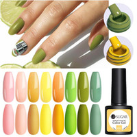 Gel de cor UR AÇÚCAR UV Gel Nails Polish Verde Amarelo Soak Off Gel UV Verniz Cor Nails poloneses DIY Nail Lacas Arte