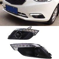 2xCar اللمعان DRL لشفروليه تشيفي الشراع 3 2014 2015 2016 LED تشغيل أضواء النهار DRL مصباح الضباب أبيض أصفر أضواء السيارات