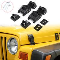 Schwarze Hauben-Verschluss-Fang-Verriegelungs-Dekoration Abdeckung für Jeep Wrangler TJ 1997-2006 Qualitäts-Auto Exterior Zubehör