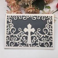 Hollow Laser Cut Wedding Invitation Card High- end Pearl Pape...