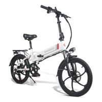 Samebike 20LVXD30 inteligente portátil plegable eléctrico bici del ciclomotor Motor 350W Max 35 kmh 20 pulgadas Neumáticos - Blanco