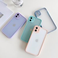For Iphone 11 Pro Xs Max Xr Phone Case Contrast Color Transp...