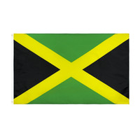 3X5FT Jamaika Flagge Land Nationalflaggen Zweiseitige Druck Polyester 90 * 150cm Jamaika Flagge Freies Verschiffen HA1502