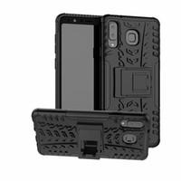 6.3 pulgadas para Samsung Galaxy A9 Star Case Heavy Duty Armor Híbrido a prueba de golpes Kickstand Duro y resistente cubierta de goma del teléfono