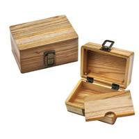 Cigarro de madeira Box Fumar armazenamento caso de madeira cigarros enrolados Stash caixas de ferramentas Homens de viagem do presente Multifunção 28xb H1