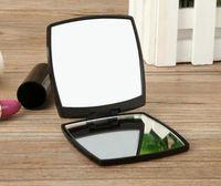 패션 브랜드 소형 고급 화장품 거울 미니 손거울 미용 메이크업 도구 세면 휴대용 접이식 facette 2면 미러