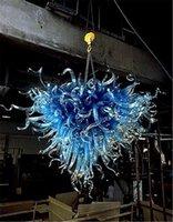 L'alta qualità Interno di casa Lihgt Ciondolo disegno speciale Blu Dale Chihuly economico Piccolo vetro soffiato lampadario luce