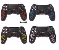 PS4 تحكم لاسلكي لحالة لينة سيليكون المطاط واقية حالة الغطاء
