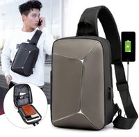 New chest pack chest bag USB fashion sports shoulder bag men...
