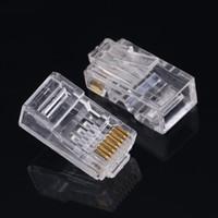 100piece / Paketleri Cat6 Cat6A Ağ İnternet Bağlayıcı 8P8C RJ45 Modüler Tak Kablo Başlıkları Ücretsiz Kargo 6