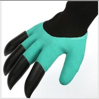 Fashion Garden Genie Gloves with Fingertips Claws Green Dig and Plant Safe Pruning Gloves Waterproof Digging Gloves