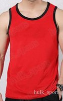 74875 Sommer Ärmel Sport- und Fitness Westen Männer verlieren T-Shirt Baumwollweste Trend Kleidung unten verlaufend 50 outsidse tragen Sie bequemen