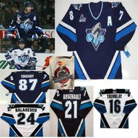 Rimouski Oceanic Hockey-Trikots Jugend Sidney Crosby Jerseys Alexis Lafreniere Brunet Balasescu Erick Tremblay Arsenault Custom genäht