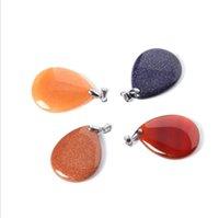 Luckyshine 10 Pcs Moda Pedra Natural Pingentes De Cristal Encantos De Prata Para As Mulheres de Cristal Pingente de Colar de Jóias de Envio