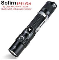 SOFIRN SP31 V2.0 мощный тактический светодиодный фонарик 18650 CREE XPL HI 1200LM горелки светлый светильник с индикатором питания двойного коммутатора ATR