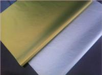 Gros- 100sheets / lot 50x66cm or et emballage de tissu argenté chaussures sac à vin papier cadeau papier d'emballage matériel de protection emballage