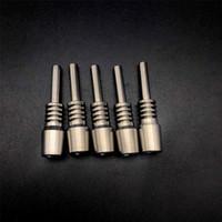 10mm 학년 2 티타늄 팁 40mm 길이 티타늄 팁 네일 흡연 액세서리 NC 키트 유리 물 봉지 DAB 굴착기 파이프 흡연
