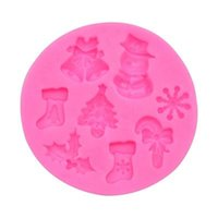 Silicone Cake Moulds DIY Cookies Candy Christmas Silicone Bakeware Christmas Tree Stocking Snowflakes Shaped Baking Kitchen Tools