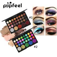 Popfeel 29 Colors ظلال ماكياج لوحة ماتي لامع بريق عارية صبغات معدنية ظلال العيون الجمال Bling Bling Eyeshadow