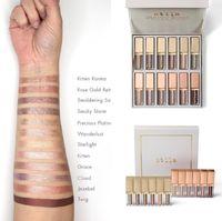 2019 Stila Estrelado-Eyed Líquido Sombra Vault Kit 12pcs Tamanho Shimmer glitter Eyeshadow Palette coleção completa ePacket frete grátis