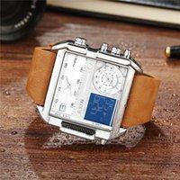 6.11 광장 손목 시계 남성 주도 방수 여러 시간대 남성 시계 브랜드 명품 Relogio Masculino 듀얼 디스플레이 시계 Y19052103