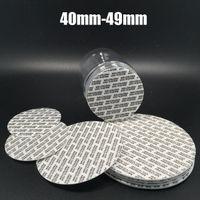 200 stücke Größe 40mm-49mm Kunststoff Foma Dichtungen, 42mm 44mm 45mm 46mm 47mm 48mm Selbstklebrige Flaschendichtungen, druckempfindliche klebrige Sealer