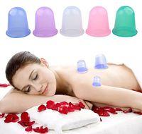 100 pz salute bellezza famiglia massaggio del corpo helper anti cellulite vuoto silicone coppette ventosa ventosa fascia massaggiatore 5,5 * 5,5 cm