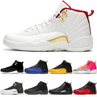 Melhor Qualidade 12 12s Jumpman Reverso Táxi Homens Basquete Sapatos Jogo Royal University Gold FIBA Hot Soco Mens Sport Sneakers Trainer