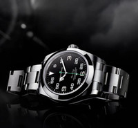 Vendita diretta della fabbrica 116900 40mm Air Black Dial Young Fashion Men's Watch Movimento automatico Crown Orologi da uomo Orologi da polso