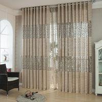 Europäische Vorhänge für Wohnzimmer Jacquard Vorhänge Fenster Panel Vorhangstoff für Schlafzimmer Custom Shading