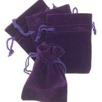 크리스마스 가방 귀걸이 목걸이 팔찌에 대한 자수정 3 개 크기 벨벳 보석 파우치 선물 선물 패키지 적합
