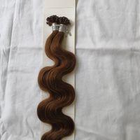Capelli umani di Remy di estensione dei capelli di U di estensione di Remy dei capelli umani 1g / ciocca 100 ciocche capelli umani