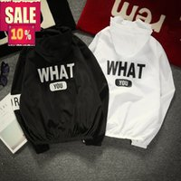 New 2018 summer women ladies WHAT YOU back letter bomber hoo...