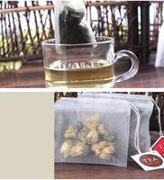 Bolsas de té de nylon de alta calidad vacías bolsitas de té transparentes con la secuencia del filtro etiquetas de la bolsita de té 20pcs / lot
