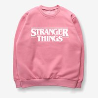 2019 New Women Sweatshirt Pink Print Letter Stranger Things ...