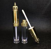 8 ml ruj kabı ile taç kapağı şeffaf dudak parlatıcısı tüp dudak balsamı şişe kozmetik tüp