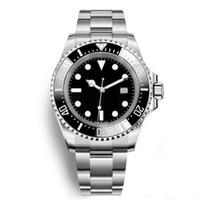Серия R 44 мм автоматическая дата мужские часы глубокий черный циферблат керамический безель Светящиеся стрелки наручные часы Bracket из нержавеющей стали