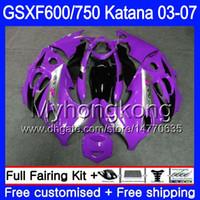 GSXF-600 Für SUZUKI KATANA GSXF 750 600 Lila schwarz heiß GSXF600 03 04 05 06 07 293HM.65 GSX 750F GSXF750 2003 2004 2005 2006 Verkleidung