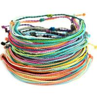 Balmumu Konu Dokuma Bilezikler El Yapımı Çok Katmanlı Dostluk Takı Wax Dize Bilezikler Multicolour Ayarlanabilir örgülü bilezik FFA3506