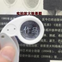 확대 루페 40X 25mm의 40X25mm 40 × 25 보석 LED 빛 유리 돋보기 도매 Dropshipping를 새로운 무료 배송 (100)