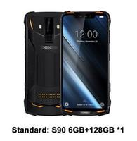 2019 새로운 DOOGEE S90 6기가바이트 128기가바이트 휴대 전화 IP69K 방수 PTT SOS 5050mAh 6.18''FHD MT6671 옥타 코어 16MP NFC 4G 스마트 폰