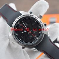 Special Edition PD ChronoTimer Flyback orologi 6620 del quarzo del Giappone movimento orologio di lusso nero in fibra di vigilanza di gomma linea di banda