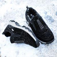 MVVT Winterschuhe Veloursleder Herren Schuhe Pelz Warm Men Casual Outdoor-Loafers Anti-Rutsch-Schnee Hot Schuhe