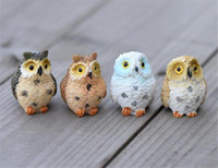 HTHOM Peyzaj Baykuş Bebek Reçine Peri Ev Bahçe DIY Dekor Mikro Süsler Dekorasyon Reçine Açık Baykuş Dekoratif Süsler