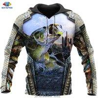 SONSPEE 2020 Hot Sale 3D Print Fishing Men's Hoodie Casual Hip Hop Men Women Fish Autumn Coat Pullover Tops Sweatshirt