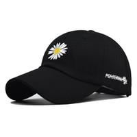 2020 nuevos pequeña tapa crisantemo crisantemo de béisbol de algodón cap cap salvajes hombres y mujeres del sombrero de algodón de moda
