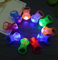 Crystal Small Diamond Flashing Finger Ring Led Light Up Kids...